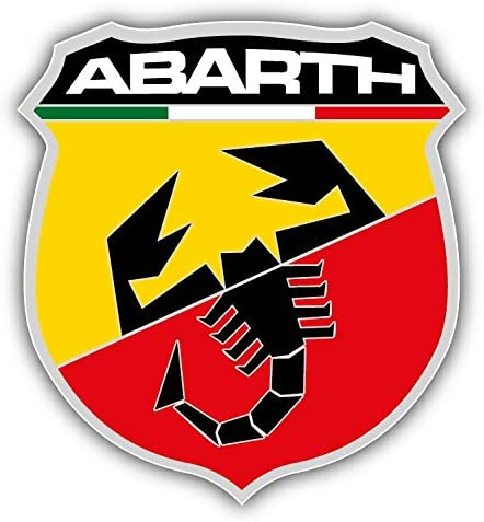 Fiat Abarth Scorpion Logo Auto Car Bumper Sticker Decal 5 X 5