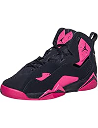 Kids Jordan True Flight Basketball Shoe 8 Big Kid M Black Sport Fuschia