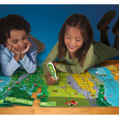 LeapFrog LeapReader Interactive United States Map Puzzle (works with ...