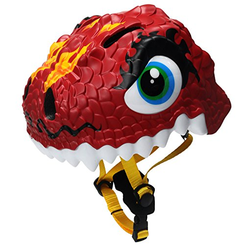 Bavilk Toddler Multi Sports Helmet 3D Cartoon Kids Bike Helmets For Girls&Boys (Red Dinosaur) For Sale