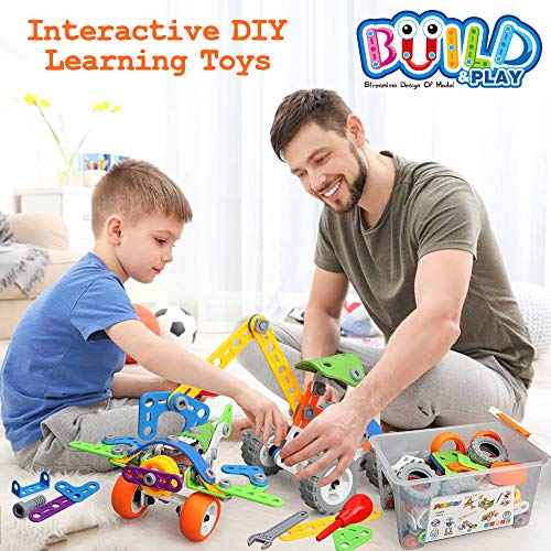 175 Pieces STEM Toys Kit Building Toy for Kids Building Blocks Learning Set for Age 3 4 5 6 7 8 9 10Year Old Boy Girl Best Kids Toy Creative Game Fun Activity Superior Gift for Your Kid