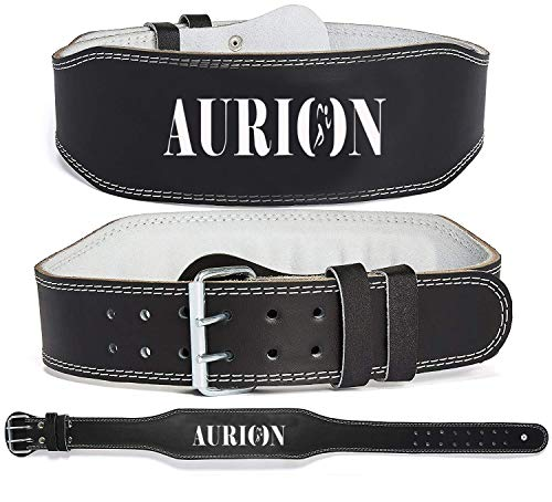 Aurion Genuine Leather Weight Lifting Belt Body Fitness Gym Back Support Power Lifting Belt Price & Reviews