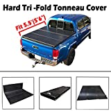 Black Friday New 5.5' Hard Tri-Fold Tonneau Cover Truck Bed For 2004-2018 Ford F-150 & 2006-2014 Lincoln Mark LT (66