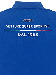 Automobili Lamborghini Mens Eccellenza Polo Shirt Xxl Blue