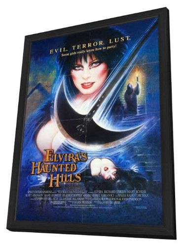 Elvira's Haunted Hills 27 x 40 Movie Poster - Style A - in Deluxe Wood Frame