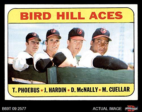 1969 Topps # 532 Bird Hill Aces Mike Cuellar/Jim Hardin/Dave McNally/Tom Phoebus Baltimore Orioles (Baseball Card) Dean's Cards 4 - VG/EX - Baseball Cards Topps Baltimore Orioles