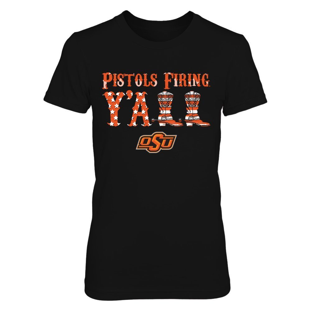 Oklahoma State Cow T Shirt Y All Boots Nation Flag