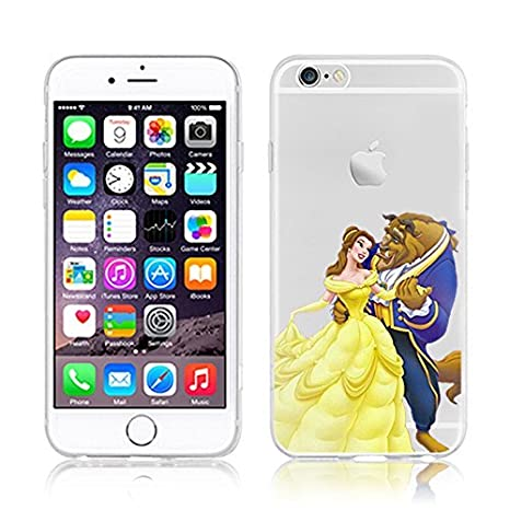 size 40 24d01 497ac Disney Princess Transparent Soft Cases for Apple iphone 5/5S 5C 6/6S & 6+  (iPHONE6/6S, BEAUTY AND BEAST)