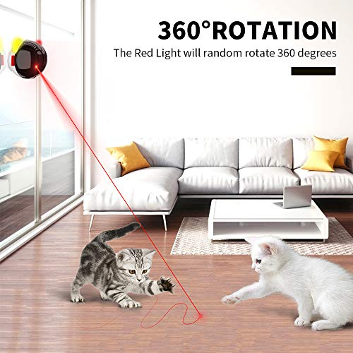 KeBuLe Cat Toys Interactive Electronic,Automatic Cat Toys for Indoor Cats,Kitten Toys for Trainning Exercise USB Charging 360 Degree Rotation 2 Different Sports Modes Irregular Running (Colorful)