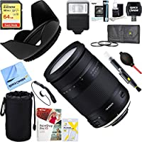 Tamron (AFB028N-700) 18-400mm f/3.5-5.6 Di II VC HLD All-In-One Zoom Lens for Nikon Mount + 64GB Ultimate Filter & Flash Photography Bundle