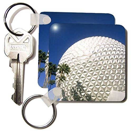 3dRose Florida, Orlando. Epcot Center at Walt Disney World - US10 BBA0073 - Bill Bachmann - Key Chains, 2.25 x 4.5 inches, set of 2 - Disney At World Shops