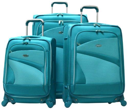 Amazon.com | Olympia Luggage San Francisco 3 Piece Luggage Set ...