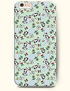 iPhone 6 Plus Case 5.5 Inches Dairy Cattle Chicken and Cherry - Hard Back Plastic Case OOFIT Authentic