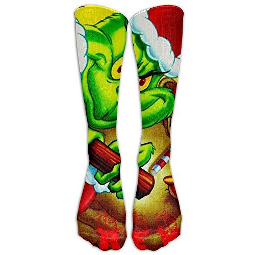 The Grinch Stole Christmas Long Soccer Socks Team Socks For Men And Women - Running & Fitness - Best Medical, Nursing, Travel & Flight Socks