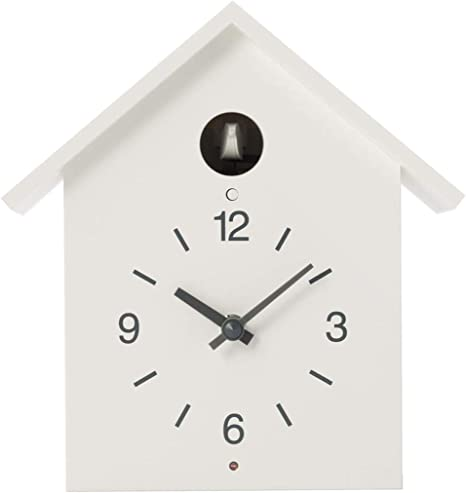 Muji Reloj De Cuco Color Blanco Tamaño Grande Home Kitchen