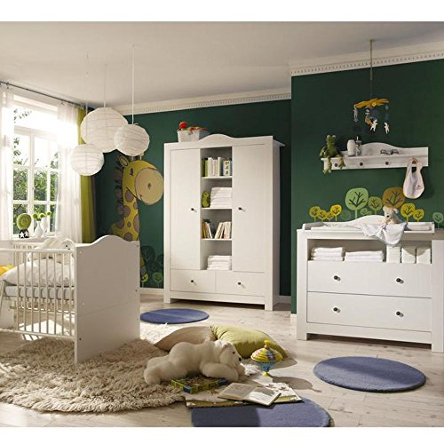 An Original By Storado Babyzimmer Luca 1 Weiss Weiss 5 Tlg Amazon