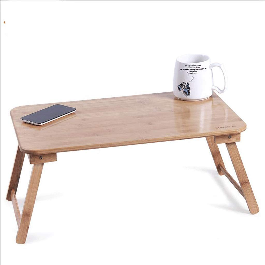 Portable Bamboo Laptop Stand Table Folding Desk,Adjustable Height Lap Desk,Breakfast Serving Bed Tray Bed Table with Drawer