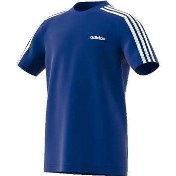 adidas Essentials 3 Streifen T Shirt Rot | adidas Deutschland