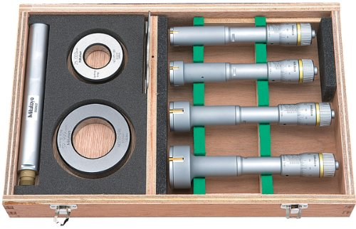 Mitutoyo 368-913 Holtest Vernier Inside Micrometer, Complete Unit Set, 20-50mm Range, 0.005mm Graduation, +/-0.003mm Accuracy