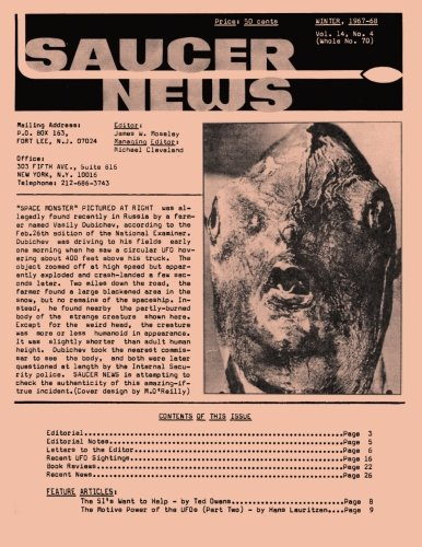 Louise Saucer - Saucer News Vol. 14, Number 4, Winter 1967-1968 (Whole Number 70)
