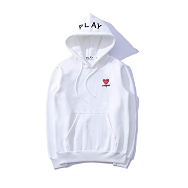 138f4da6a55b Daoing Comme des Garcons CDG Play Embroidery Autumn Winter Hoodie Men Women  Couple