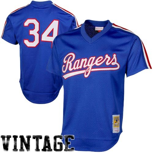 Blue Batting Practice Baseball Jersey - Mitchell & Ness Nolan Ryan Blue Texas Rangers Authentic Mesh Batting Practice Jersey (X-Large)