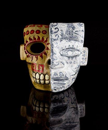 (Teotihuacan Aztec Warrior Decorative Clay Mask Mexico Mayan Mexican Folk)