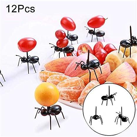 crewell halloween animal hormiga de granja tenedor de fruta mini