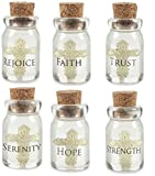 AngelStar Religious Cross Hope Strength Trust Faith in a Bottle Asst Pack of 6