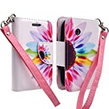 lg 305c phone case - LG 306G 305C Case, LG 306G 305C Case, Wrist Strap Flip [Kickstand] Pu Leather Wallet Case with ID&Credit Card Slot For LG 306G 305C Case - Sun Flower