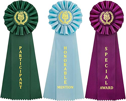 Clinch Star Victory Recognition Award Ribbons - Honorable Mention - Participant - Special Award - with Event Card ()