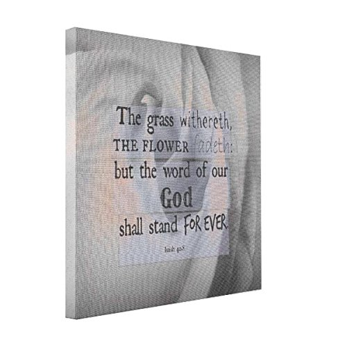 Vetiver Snapfish Canvas Inspirational Bible Verse  Word Of God Shall Stand Canvas Print