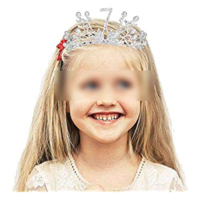 7th Birthday Decorations Party Supplies, 7th Birthday Gifts, Silver 7th Birthday Tiara and Sash, 7th Black Satin Sash It's my 7th Birthday, 7th Birthday Party Supplies and Decorations, Happy 7th Birthday Party Supply, 7th Bir