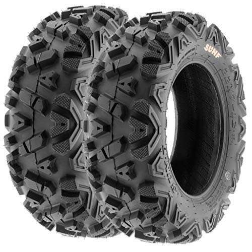 Set of 2 SunF A033 Power.I AT 22x7-12 ATV UTV Off-Road Tires All-Terrain, 6 Ply Tubeless