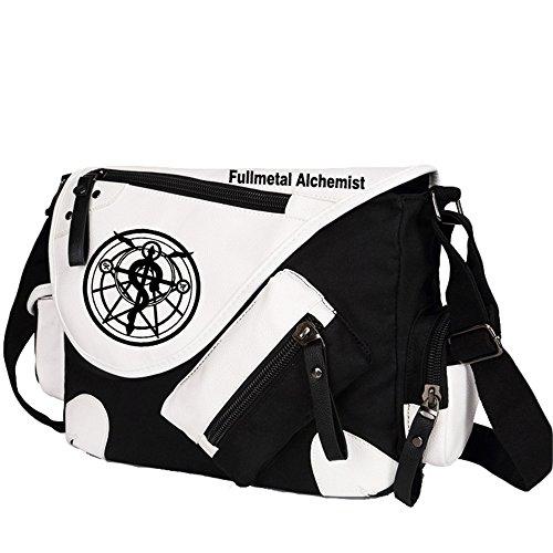 Siawasey Fullmetal Alchemist Anime Cosplay Backpack Messenger Bag Shoulder Bag - Metal Bag Alchemist Full Messenger
