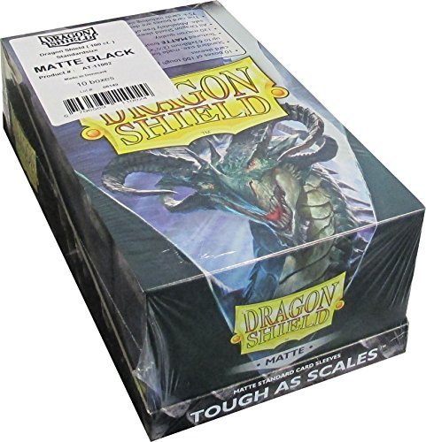 Dragon Shield Matte Black Standard Size Card Sleeves Display Box [10 packs] by Dragon Shield (Image #3)