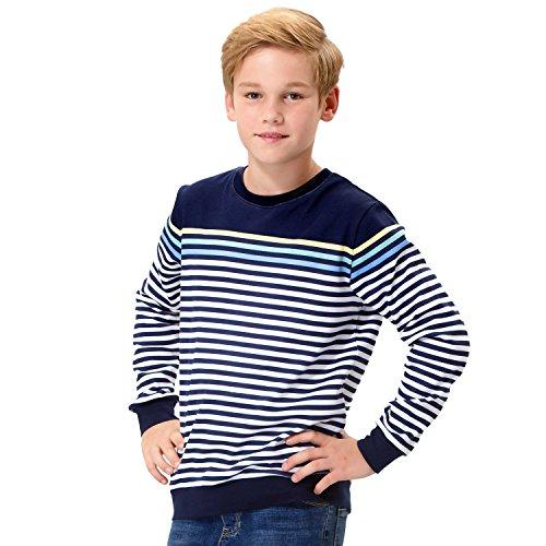 Leo&Lily Boys' Big' LLB3201-12-Navy-MFN, Navy, 12 - Fleece Long Sleeve Polo Shirt