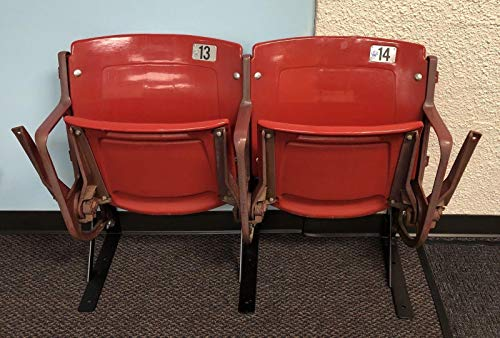 St. Louis Cardinals Game Used Busch Stadium Seats 13 & 14 MLB HOLO Pujols Molina - Game Used MLB Stadium (St Louis Cardinals Stadium Seats)
