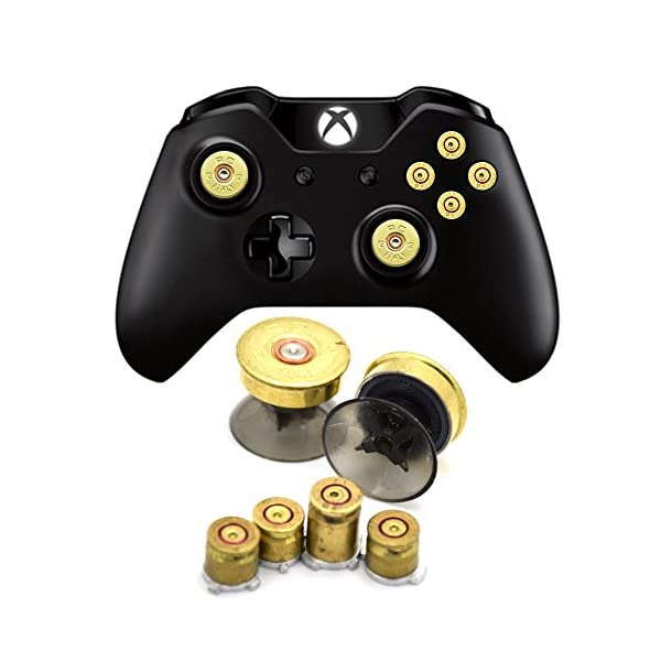 Bullet Buttons for Xbox One Controller, COCOTOP Raplacement Parts Bullet Thumbsticks and A B X Y Buttons Set Mod Kits… 1