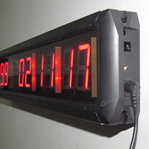 Ledigtal Led Days Countdown Clock Red Color 1 8 Quot 10 Digits