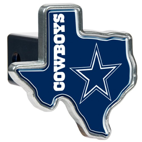 (NFL Dallas Cowboys Texas Shaped Trailer Hitch Cover, High Polish)