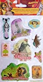 Dreamwork Madagascar Escape 2 Africa Safari Animals Puffy 3D Stickers (9 Stickers)