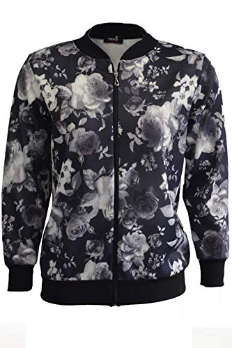 Mmk Grey Mmk Giacca Donna Floral Grey Donna Giacca pRrp6w