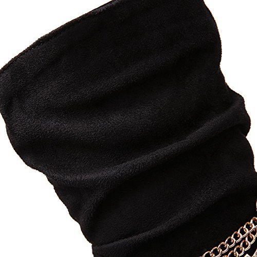 Allhqfashion Donna Tacco A Spillo Tacco Alto Smerigliato Con Tacco Alto Nero