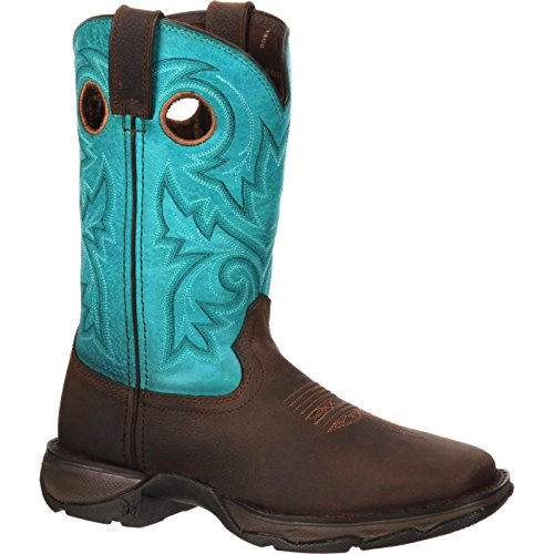 Durango Women's DWRD022 Western Boot, Brown/Turquoise, 10 M -