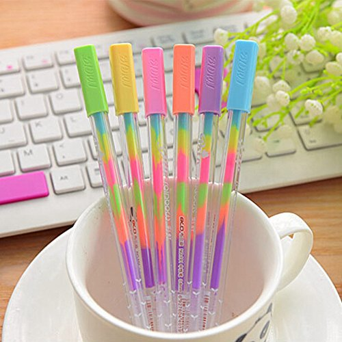 KitMax (TM) Pack of 12 Pcs 0.8 Mm Cute Cool Novelty Colorful Color Change Highlighter Pen Office School Supplies Students Children Gift