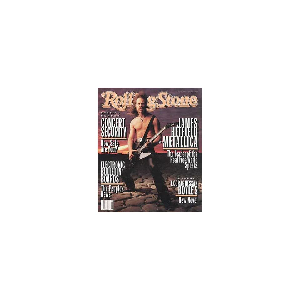 Rolling Stone Magazine, Issue 654, April 1993, James Hetfield of Metallica Cover