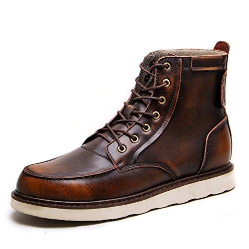 Herren freizeitschuhe kleid bergsteigen herbst outdoor [leise unten] stiefel rutschen schwarzbraun-braun Fußlänge=41EU