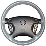 Wheelskins Jaguar Genuine Leather Grey Steering Wheel Cover-Size AXX
