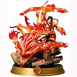GOXJNG Anime Figure One Piece Action Figure Travel Portgas D Ace 39CM 20th Anniversary Fire Fist Ace Figurine Collection…